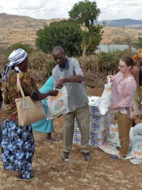 Flour distribution in Kenya