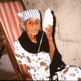 Elderly lady from Peru