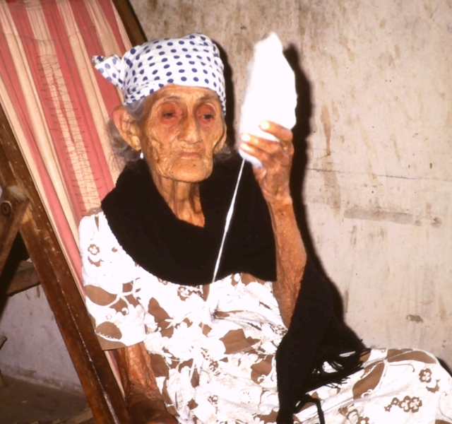 Elderly lady from Peru