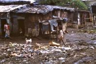 Mumbai slum street scene