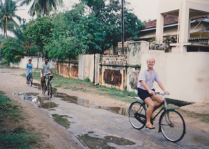 George on Bike Jaffna