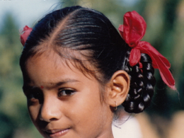 A girl in India