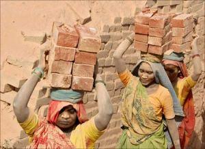 Bonded Labour at a brick kiln