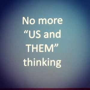 No more us and them
