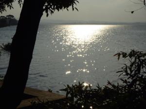 Sunshine on lake